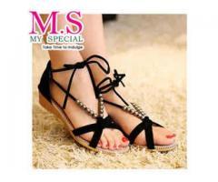 Ladies Open Toe Wedge Sandal (Unique Design)