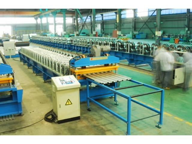 Long Span Aluminium Corrugated Roofing Sheet Roll Forming Machine