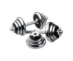 Brand new dumbbells and barbells at Ehi Sports mart