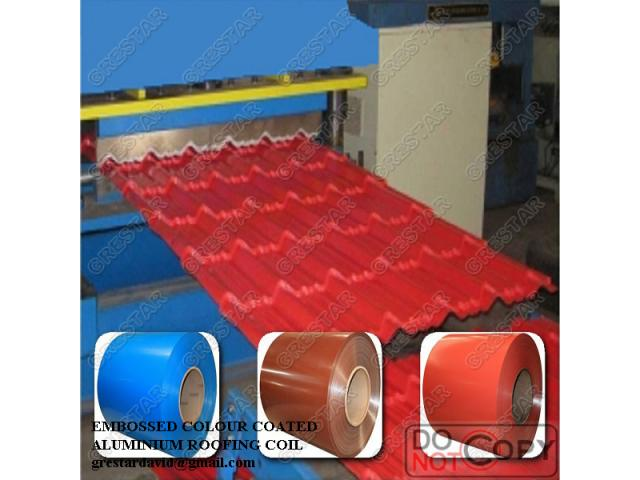 Imported oven baked embossed aluminium roofing sheet coils for sale