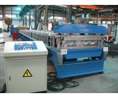 Regular Aluminium Long Span Roofing Sheet Cold Roll Forming Machine For Sale