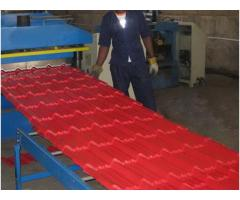 Aluminium Steptiles Roll Former Machine For Sale