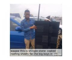 ROOF FOR THE BIG BOYS SHINGLE STONE COATED ROOFING SHEETS CALL KAMAT 08137661453