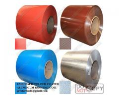 Colour Coated Embossed Aluminium Roofing Coil For Roofing Sheet For Sale