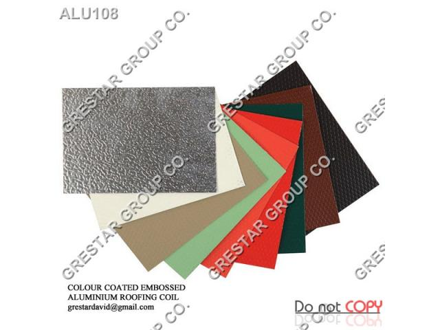 Colour Coated Embossed Aluminium Roofing Sheet Coil For Sale