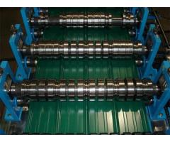 Corrugated Aluminum Longspan Roofing Sheets Roll Corrugation Machine For Sale