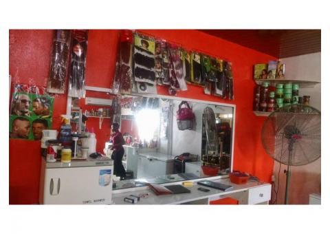 Fully loaded unisex hair salon for sale, call 07065516856