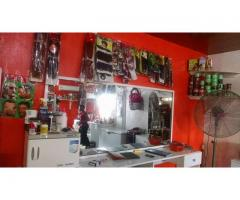 Fully loaded unisex hair salon for sale, call 07065516856