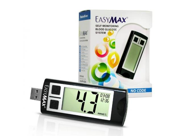 Easymax Blood Glucose Monitor with inbuilt software