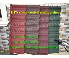 Happiness stone coated metal roof tiles