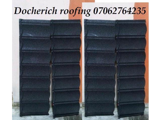 Docherich (stone coated roofing sheet) call rm donald 07062764235