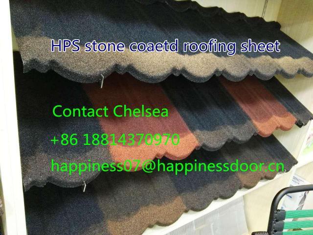 HPS new design stone coated metal roof tiles in Nigeria