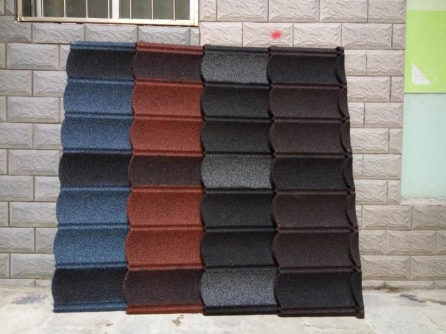 New color stone coated metal roofing tile