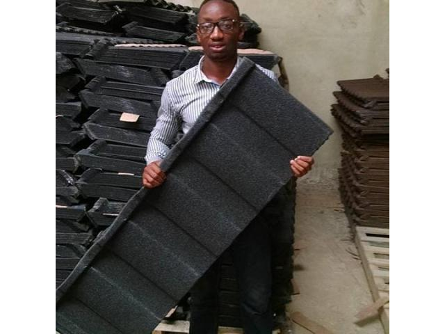 Docherich stone coated roofing sheet is in stock now 07062764235
