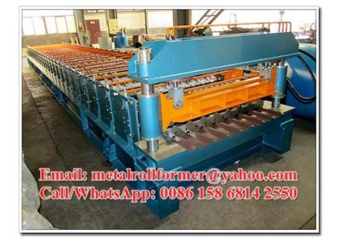 Professional Prepainted Steel Roof Panel Roll Forming Machine Thickness 0.4-0.7mm