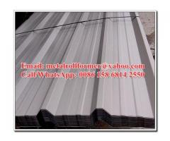 Galvalume Metal Roof Panel Roll Forming Machine , R Panel Cold Roll Forming Equipment