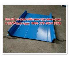 Galvanized Steel Strip Locked Roof Sheet Metal Forming Equipment CE / SONCAP